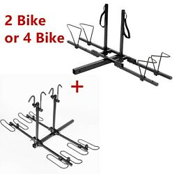 2 Bike 4 Bike Bicycle Carrier Hitch Receiver Heavy Duty 2and039and039 Mount Rack Truck Suv