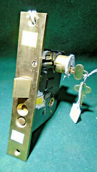 Corbin 01839 Rh Entry Mortise Lock W/cylinder And Keys 8 Face New Old Stk10539