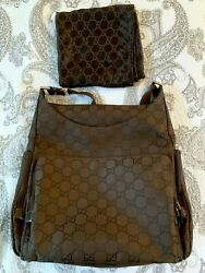 GUCCI Crossbody Weekender Messenger Diaper Bag AUTHENTIC with Dust Bag $425.00