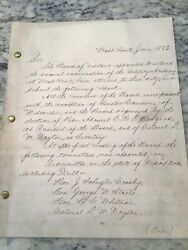 1883 West Point Military Academy Board Inspection Report Robert Todd Lincoln
