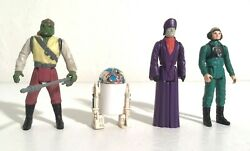 """RARE VINTAGE LOT OF 4 """"STARWARS RETURN OF THE JEDI ACTION FIGURES"""