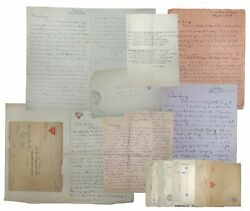 Robert Henderson / Collection Of Letters From The Front Wwi 1918