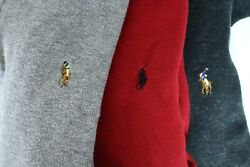 Lot Of 3 Polo M Half Zip Sweaters