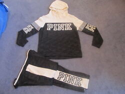Nip Victoria's Secret Pink Outfit Crossover Pullover Straight Leg Pants Large