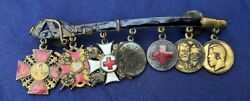 Russian Imperial Civil War Miniature Dress Mount Of Medals Order Of St Anne Etc