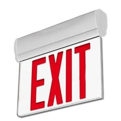 3w Edge Lit Red Led Exit Sign - Surface Mount With 90-min Battery Backup Ul List