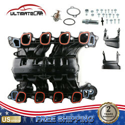 Engine Intake Manifold W/ Thermostat For 07-08 Ford F-150 E-150 Xlt 4.6l 615-375