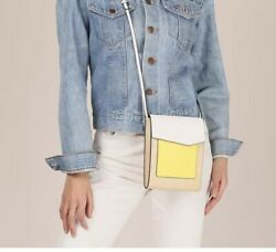 Botkier Crossbody Tall Colorblock Bag NWT Fawn Cobble Hill $150 Tan Yellow White $79.80