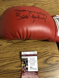 Autographed Budd Schulberg Boxing Glove Insc I Coulca Been A Contender Jsa Signe