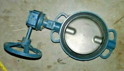 Ggg40 Dn200 Butterfly Valve Stainless Steel Cf8m Manual Actuator Gearbox And Wheel
