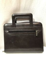 Day One Brown Planner Franklin Covey Refillable 7 Ring Pull Out Handle 10.5 X 8