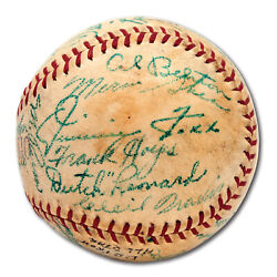 1941 All Star Game Team Signed Baseball Jimmie Foxx Ted Williams Dimaggio PSA