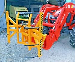 New Vertical Spiked Round / Square Bale Grabs Handler Tractor Baler Trailer