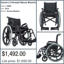New Sunrise Medical Quickie 2 Xl Ultralight Wheelchair Lightweight And New Cushion