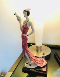 """1987 Vintage Giuseppe Armani Figurine 20's Flapper """"lady With Parrot"""" 🦜 393c"""