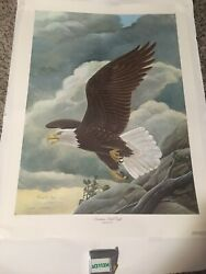 John Ruthven American Bald Eagle 7-4-76 Signed By President Gerald Ford 613/776