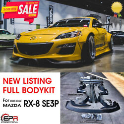 RB Style FRP Unpainted All Wide Body Full Body Kits For 2009-12 Mazda RX-8 SE3P
