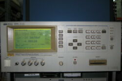 Hp/agilent 4284a Precision Lcr Meter With Opt 001 20hz-1mhz