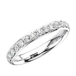 3mm Surface Prong Set Round Cut Diamonds Full Eternity Ring In 18k White Gold