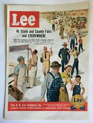 1950 H.D Lee Company Vintage Ad Page Men#x27;s Boys Jeans Overalls Work Clothes 50s $6.50