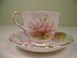 Royal Albert Bone China Blossom Time Coffee Cup Saucer Set Made In England