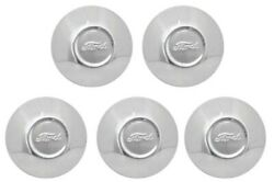 Set 5 Stainless Ford Script Hubcap For 1930-31 Model A Wheel Cap Licensed