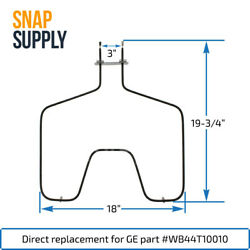 Snap Supply Bake Element For Ge Directly Replaces Wb44t10010