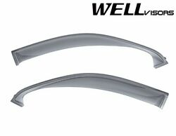Wellvisors Off-road Series Side Window Visors For 07-21 Toyota Tundra Double Cab