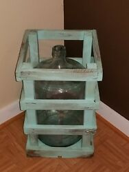 5 Gallon Water Glass Bottle Jug With Wooden Crate From Sears Chicago Il