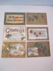 Lot Of 34 Early 1900's Christmas Greeting Post Cards - Spectacular