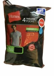 Hanes Men's Pocket T-shirts Tees 4-pack Sizes