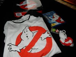 Ghostbuster 4 Piece Set Tin/bluray/t-shirt And Plush Clip On