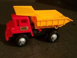 Vintage Construction Toy Kab Trucking Co Dump Truck And Log Truck - Made In Japan
