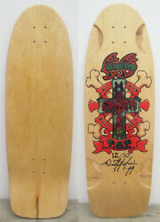 Santa Monica Bull Dogs Skateboard Deck Signed By Wes Humpston