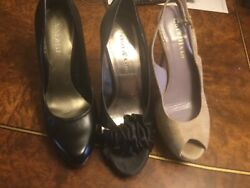 Lot of 3 Beautiful Designer Shoes Heels Pump Open Toe Sandals Size 5  $60.00