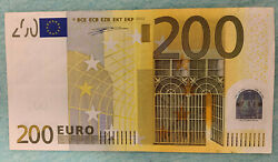 200 Euro Banknote 2002 Prefix-x Germany Draghi Sign And Duisenberg Sign
