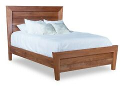 Amish Mid-century Modern Solid Wood Bed Low Foot Board Footboard King Queen