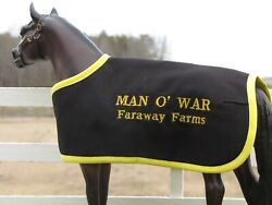 MAN O WAR custom embroidered blanket fits Breyer thoroughbred race horse