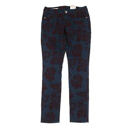 Decree Womenand039s Jeans Stretch Super Skinny Low Rise Blue Roses Juniors Size 9