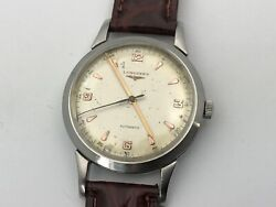 Very Rare Vintage Oversize Longines Watch 37mm Automatic Extra Long Lugs 6158