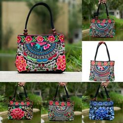 Chinese Style Women Handbag Embroidery Ethnic Summer Fashion Handmade Flowe R9W7