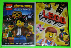 LEGO DVD Lot - The Adventures of Clutch Powers (New) The LEGO Movie (New)