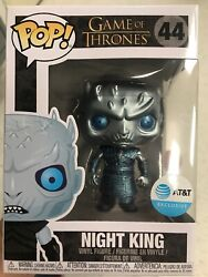 Funko Pop Game Of Thrones Metallic Night King Atandt Exclusive In Hand Will Ship