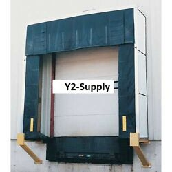 New Vestil Rigid Dock Door Shelter 10and039w X 10and039h With 36 Projection