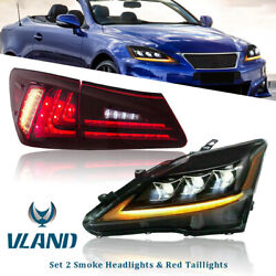 Lh And Rh Led Drl Headlight Rear Lamps For 15-18 Dodge Challenger Se R/t 2-door
