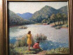 """H.m.gregory 20th Century Oil On Board 14""""x 16"""" Signed Lr,framed,listed"""