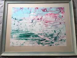 """Rolph Scarlett 1889-1982 Abstract Gouache On Paper 17"""" X 23 1/4"""" Signed Lr Mcm"""