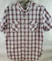 Izod Button Front Short Sleeve Menand039s Shirt Size Xxl-upper Nylon And 2 Pockets