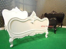 European Queen Size 160x200cm French Style Baroque Bed . Rococo Shabby Chich