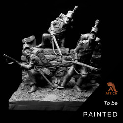 95tg Rifle Brigade At Waterloo Painted Toy Soldier Pre-sale | Art Quality